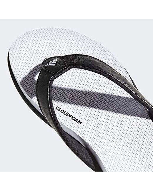 5551a7db340ec ... Adidas - Black Cloudfoam One Y W Flip-flop - Lyst
