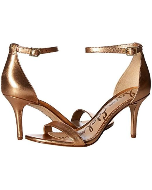 9a1476013 ... Sam Edelman - Patti Heeled Sandal Golden Copper Metallic Leather 6.5 M  Us - Lyst ...