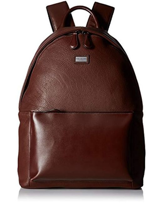 e6d617c50019c Lyst - Ted Baker Panthr Leather Backpack in Brown for Men - Save 19%