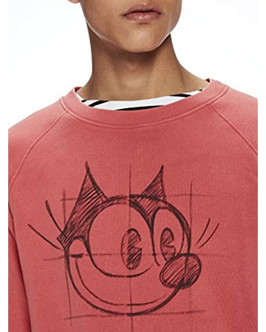 4475bb101b5 ... Lyst Scotch   Soda - Red Ams Felix The Cat Artwork Sweatshirt for Men  ...