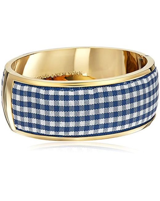"Kate Spade - Blue ""bangle Set Sail Navy Multi Bangle Bracelet - Lyst"