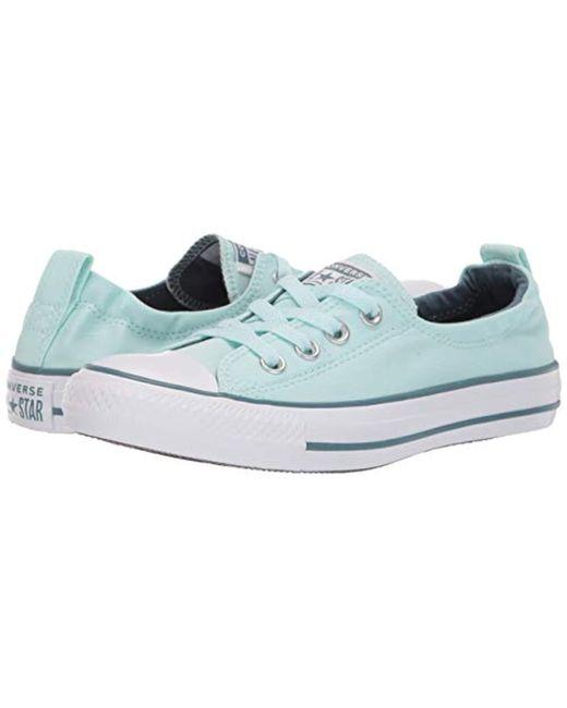 53032aada7162f ... Converse - Blue Chuck Taylor All Star Shoreline Linen Slip On Sneaker -  Lyst ...