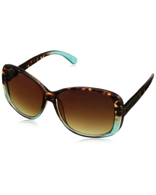 b00a9c04314 Sam Edelman - Brown Rocawear R3156 Rectangular Sunglasses - Lyst ...