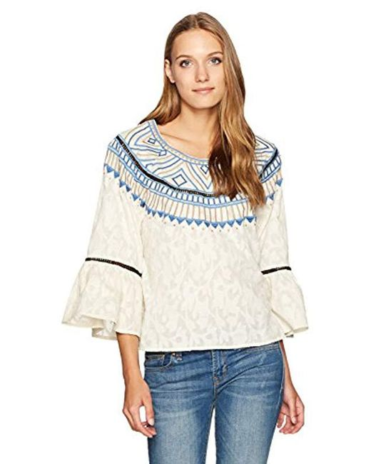 Plenty by Tracy Reese - Multicolor Embroidered Top - Lyst