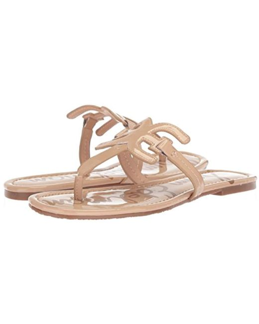 819e227aed0 Lyst - Sam Edelman Carter Flat Sandal in Natural - Save 22%