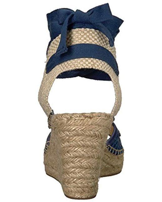895e8b160b20 Lyst - Ivanka Trump Dalyna Wedge Sandal in Blue - Save 70.4%