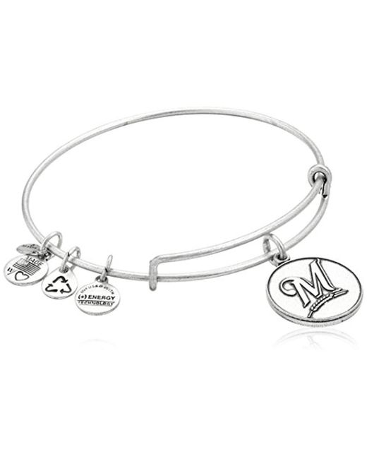 ALEX AND ANI - Metallic Milwaukee Brewers Cap Logo Expandable Bangle Bracelet - Lyst