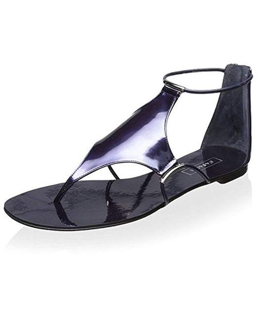 Casadei - Blue Flat Sandal - Lyst