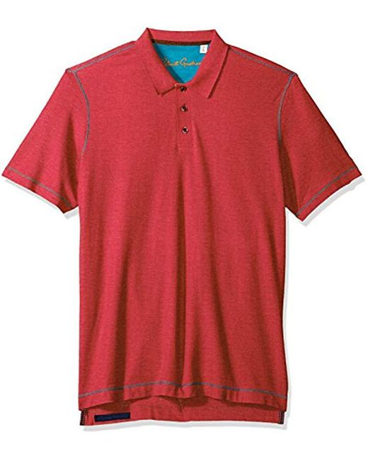 Robert Graham - Red Messenger Short Sleeve Cotton Modal Polo for Men - Lyst