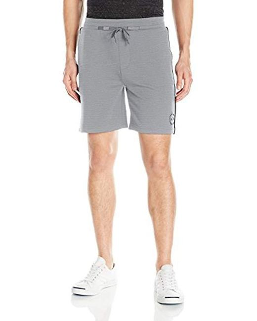 Armani Exchange - Gray | X Drw String Interlock Shorts for Men - Lyst