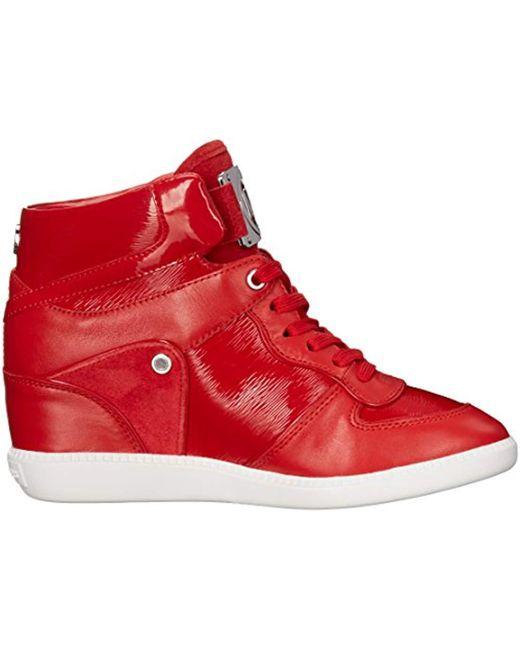 bafedb0606cb9 ... Michael Kors - Red Michael Nikko High-top Black Suprema Nappa Sport  Sneaker - Lyst ...