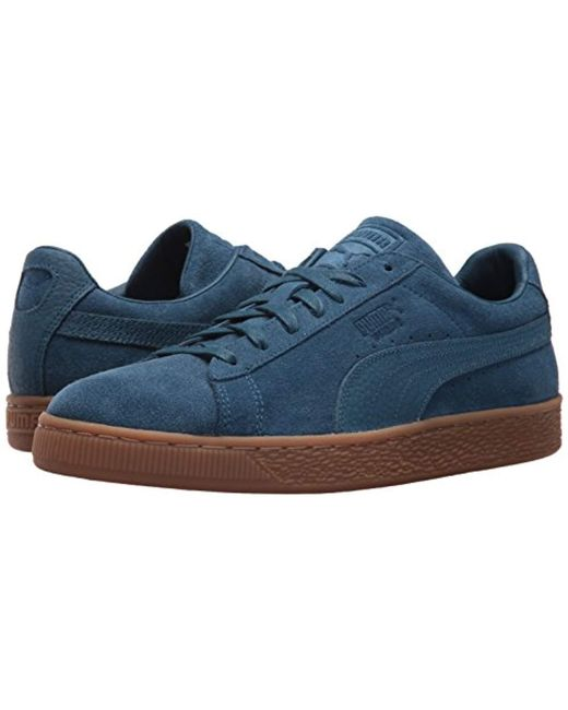 d7db834121a ... PUMA - Suede Classic Natural Warmth Sailor Blue Sailor Blue Mens Lace  Up Sneakers for Men ...