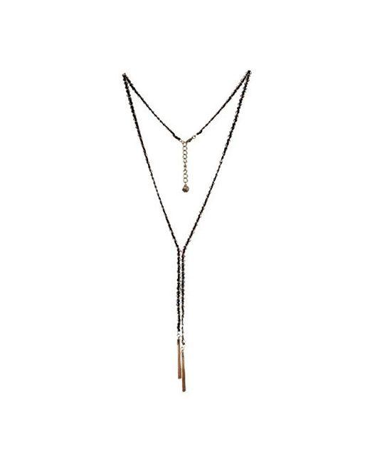 BCBGeneration - Bcbg Generation Black Tassel Y-shaped Necklace - Lyst