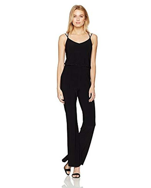 a570311f16 Lyst - Laundry by Shelli Segal V Neck Strappy Back Jumpsuit in Black ...