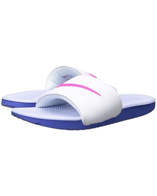 106e552feafa Lyst - Nike Kawa Slide Sandal in Blue - Save 37%