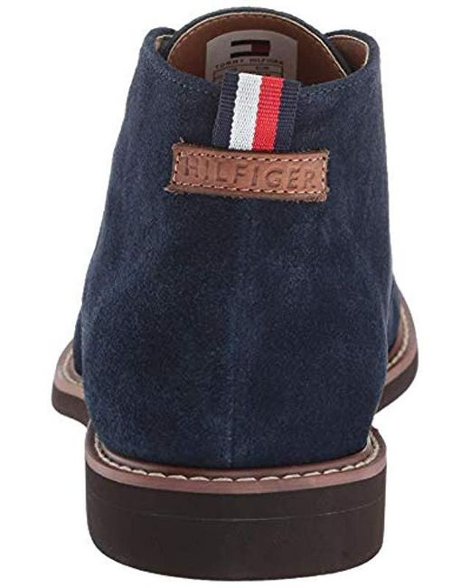2a39a8e51e35 Lyst - Tommy Hilfiger Gervis Chukka Boot in Blue for Men - Save 33%