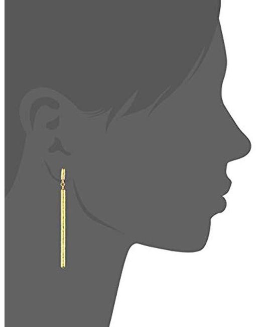 Gurhan - Metallic Vertigo Collection Gold Linear Elongated Drop Post Earrings, One Size - Lyst