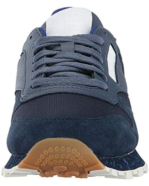 807cfc32a05 Lyst - Reebok Cl Leather Sm Fashion Sneaker in Blue for Men - Save 32%