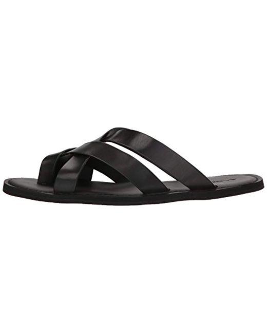 49e41bcff76 ... ALDO - Vigodia Flat Sandal Black Leather 7- D Us for Men - Lyst ...