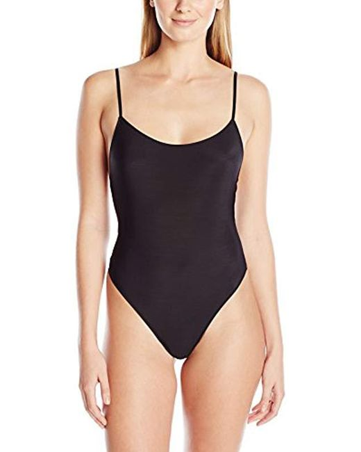 Only Hearts - Black Second Skins Low Back Thong Bodysuit - Lyst