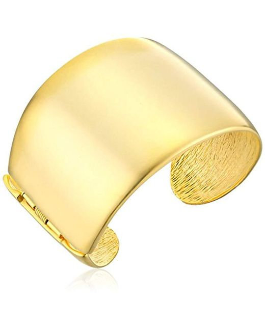 Kenneth Jay Lane - Metallic Thick Satin Gold Cuff Bracelet - Lyst