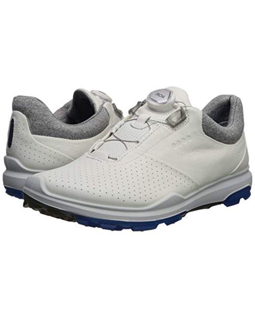 8c02bd7a2e12 ... Ecco - White Biom Hybrid 3 Boa Gore-tex Golf Shoe for Men - Lyst ...