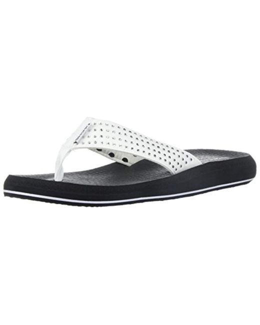 af7b859e56bb Lyst - Skechers Asana-new Age Flip-flop in White - Save 30%