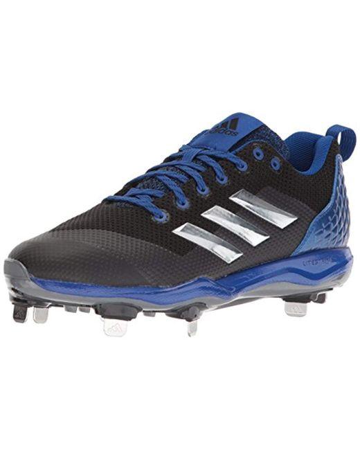 huge selection of b5846 cb554 Adidas - Freak X Carbon Mid Baseball Shoe, Black metallic Silver collegiate  Royal ...