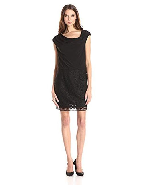 Lyst Laundry By Shelli Segal Lace And Matte Jersey Blouson Dress