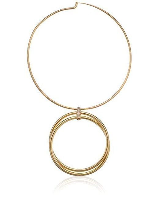 Kenneth Cole - Metallic Kenneth Cole New Trinity Rings Gold Double Circle Necklace - Lyst