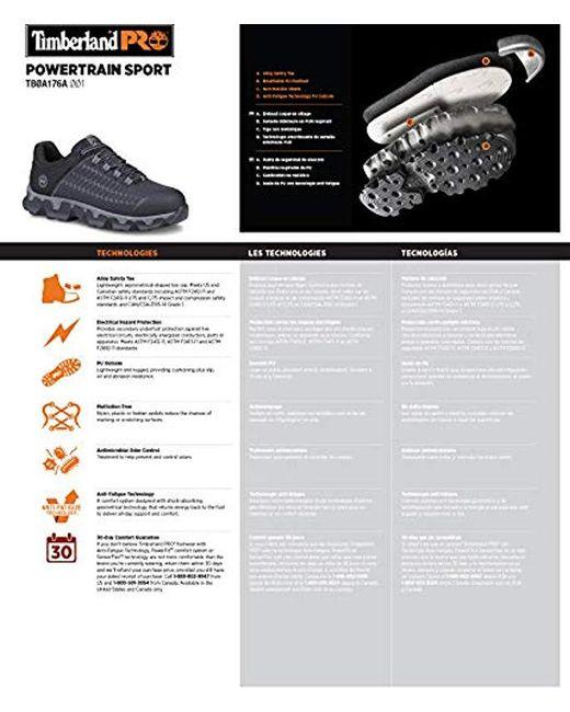 9befe15b56e ... Timberland - Black Powertrain Sport Alloy-toe Eh Industrial   Construction  Shoe for Men ...