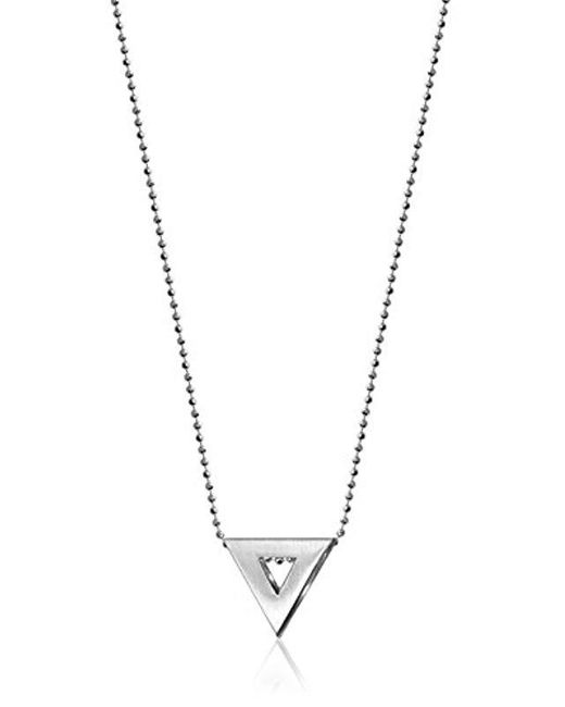 Alex Woo - Metallic Elements Triangle Pendant Necklace - Lyst