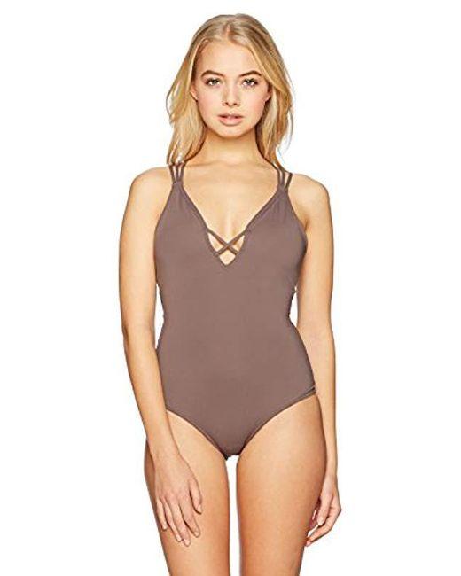 d5bb299657841 O'neill Sportswear - Multicolor Salt Water Solids One Piece Swimsuit, Aqua  Haze, ...