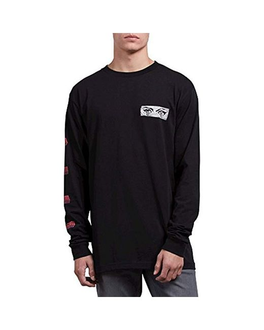 cd3143ad8 Lyst - Volcom Stone Void Basic Fit Long Sleeve Tee in Black for Men ...