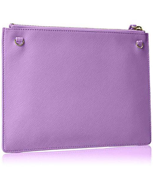 Lyst - Armani Jeans Saffiano Crossbody Clutch in Purple - Save 16.0% 6274c009dd