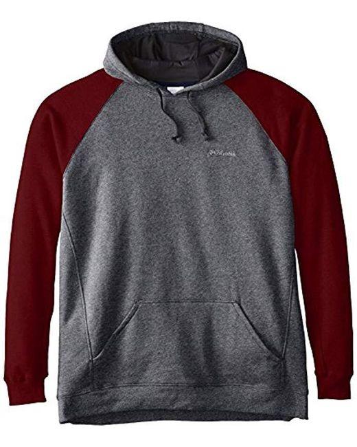 Columbia - Gray Tall Hart Mountain Ii Tall Hoodie for Men - Lyst