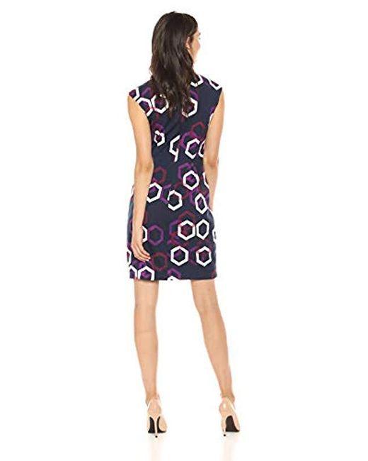 c86c34cbe70 ... Trina Turk - Blue Litzy Cap Sleeve Dress - Lyst
