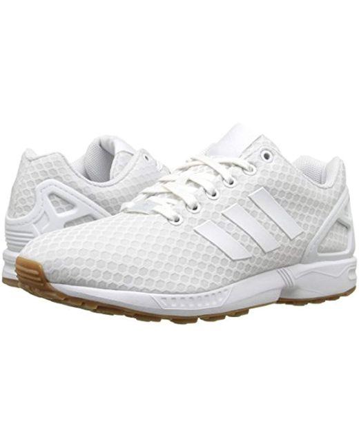39aefb7b558d ... Adidas Originals - White Zx Flux Fashion Sneaker for Men - Lyst ...