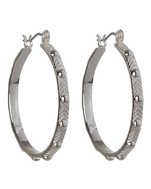 BCBGeneration - Metallic Bcbg Generation Studded Hoop Earrings - Lyst