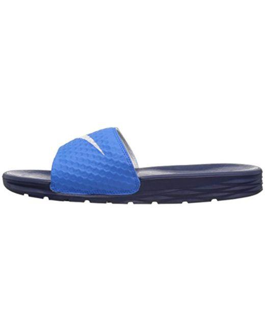 c1be4e886 Lyst - Nike Benassi Solarsoft Slide Sandal in Blue for Men - Save 15%