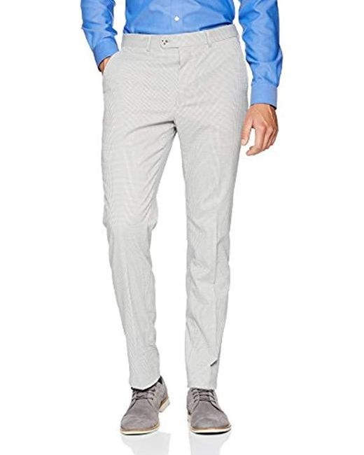 Original Penguin Gray Slim Fit Grey Seersucker Nested Suit for men