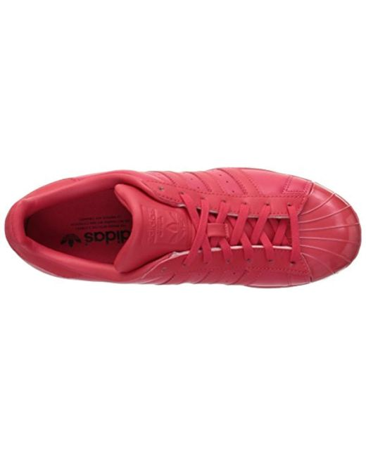 huge discount 9d0a6 54a12 ... Adidas Originals - Red Superstar Glossy Toe W Fashion Sneaker - Lyst