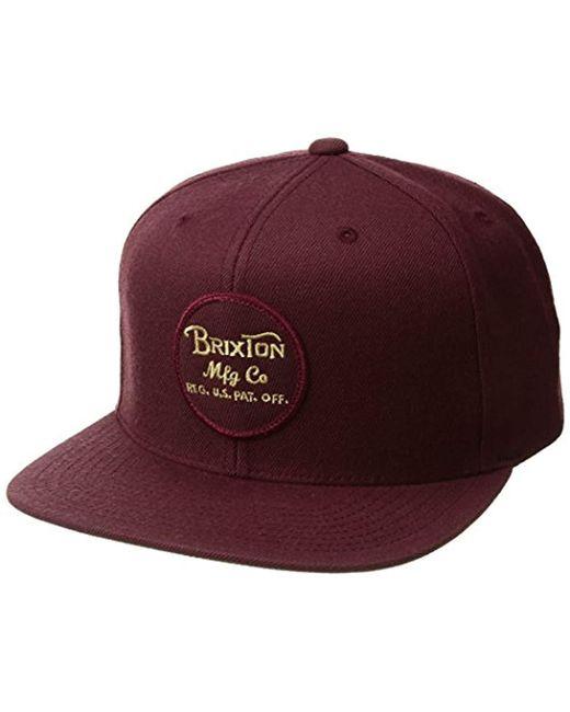 Brixton - Multicolor Wheeler Medium Profile Adjustable Snapback Hat for Men - Lyst