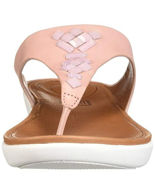 a461fc57f3395 ... Fitflop - Brown Banda Leather Toe-thong Sandals-crystal Slide - Lyst ...