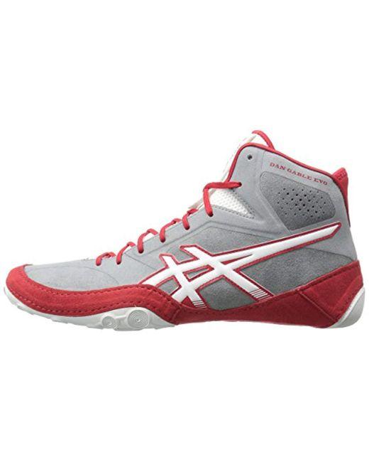 9206a184f75c ... Lyst Asics J700y Dan Gable Evo Wrestling Shoe in Red for Men