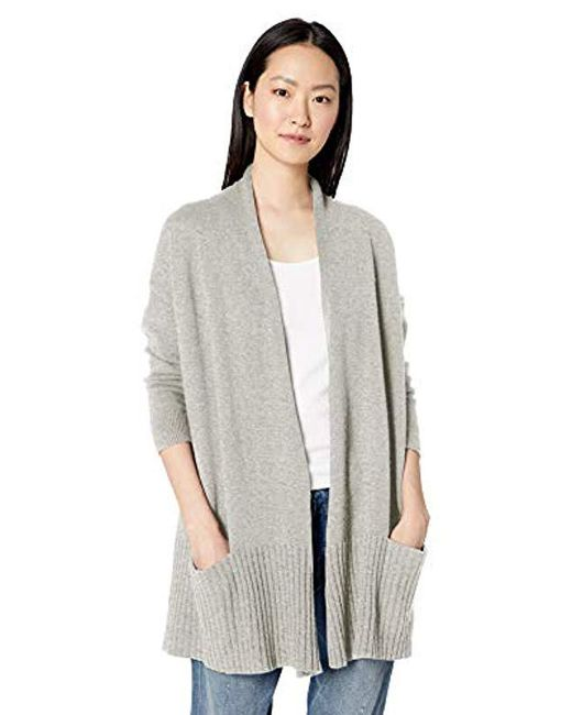 Daily Ritual - Gray Cocoon Open-front Cardigan Sweater - Lyst