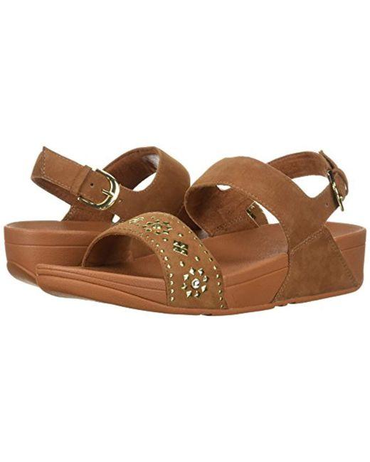 6aa2cd44fd463 ... Fitflop - Brown Lulu Aztek Stud Back-strap Sandals - Lyst ...