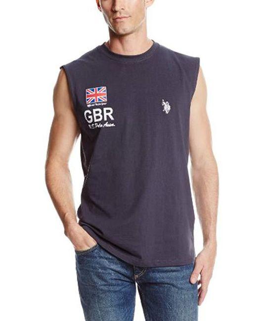 U.S. POLO ASSN. - Blue England Flag Muscle T-shirt for Men - Lyst