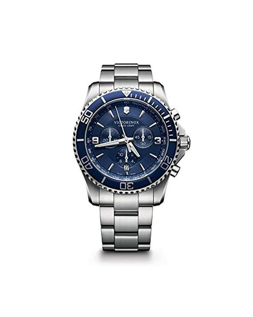 Victorinox - Blue Swiss Army Maverick Chronograph Watch for Men - Lyst