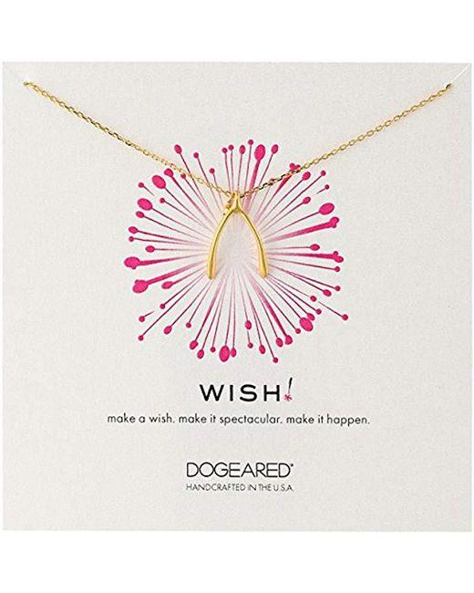 Dogeared - Metallic 'wish' Large Wishbone Charm Chain Necklace - Lyst